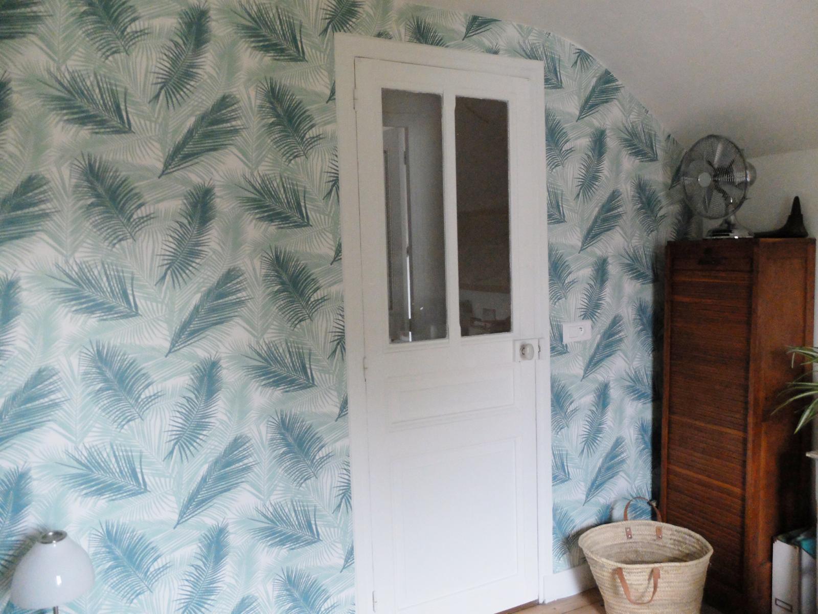 Deco Chambre Ami Bureau du papier peint dans ma chambre d'amis | madame décore