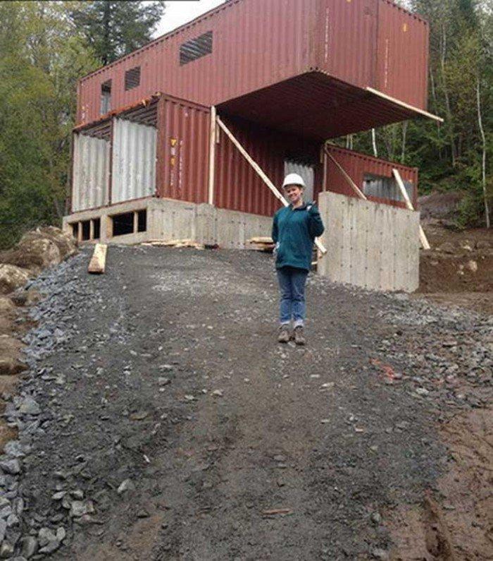 4 containers pour 1 maison madame d core for Fondation pour maison container