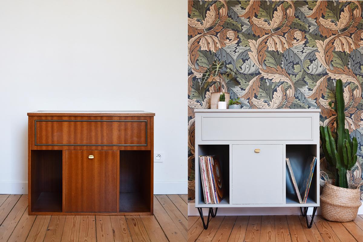 Ma Petite Fabrique De Meubles diy : un meuble vinyle avec des pieds ripaton | madame décore