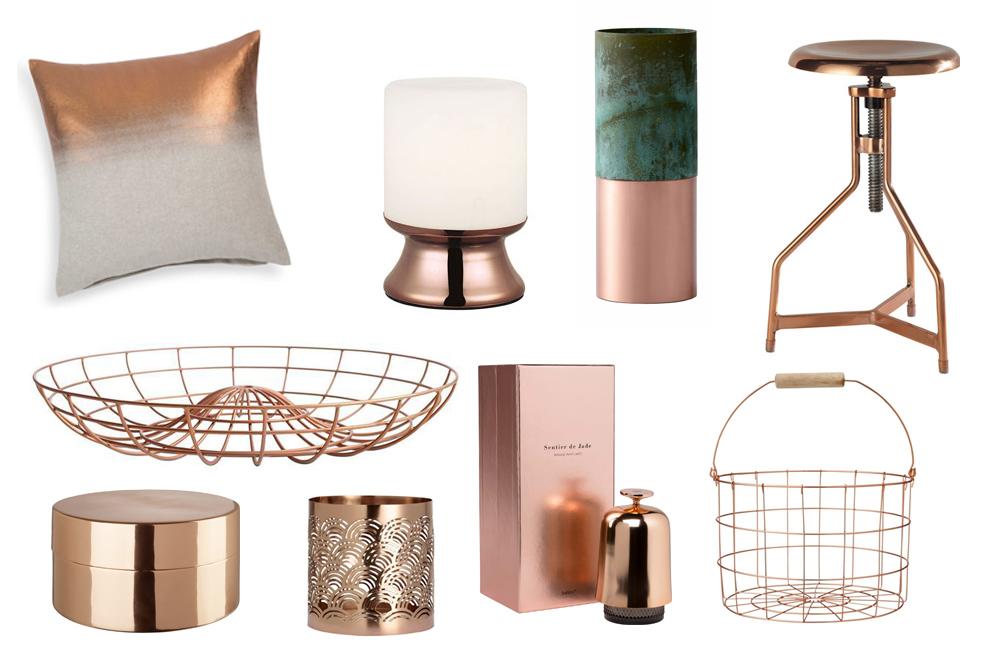 plein feux sur le cuivre madame d core. Black Bedroom Furniture Sets. Home Design Ideas