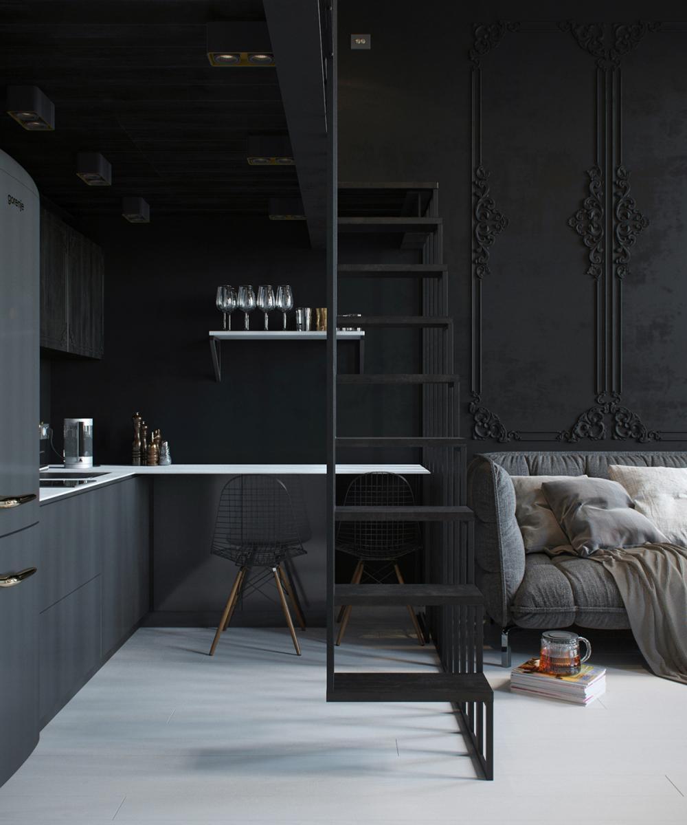 Un appartement tout de noir vêtu | Madame Décore
