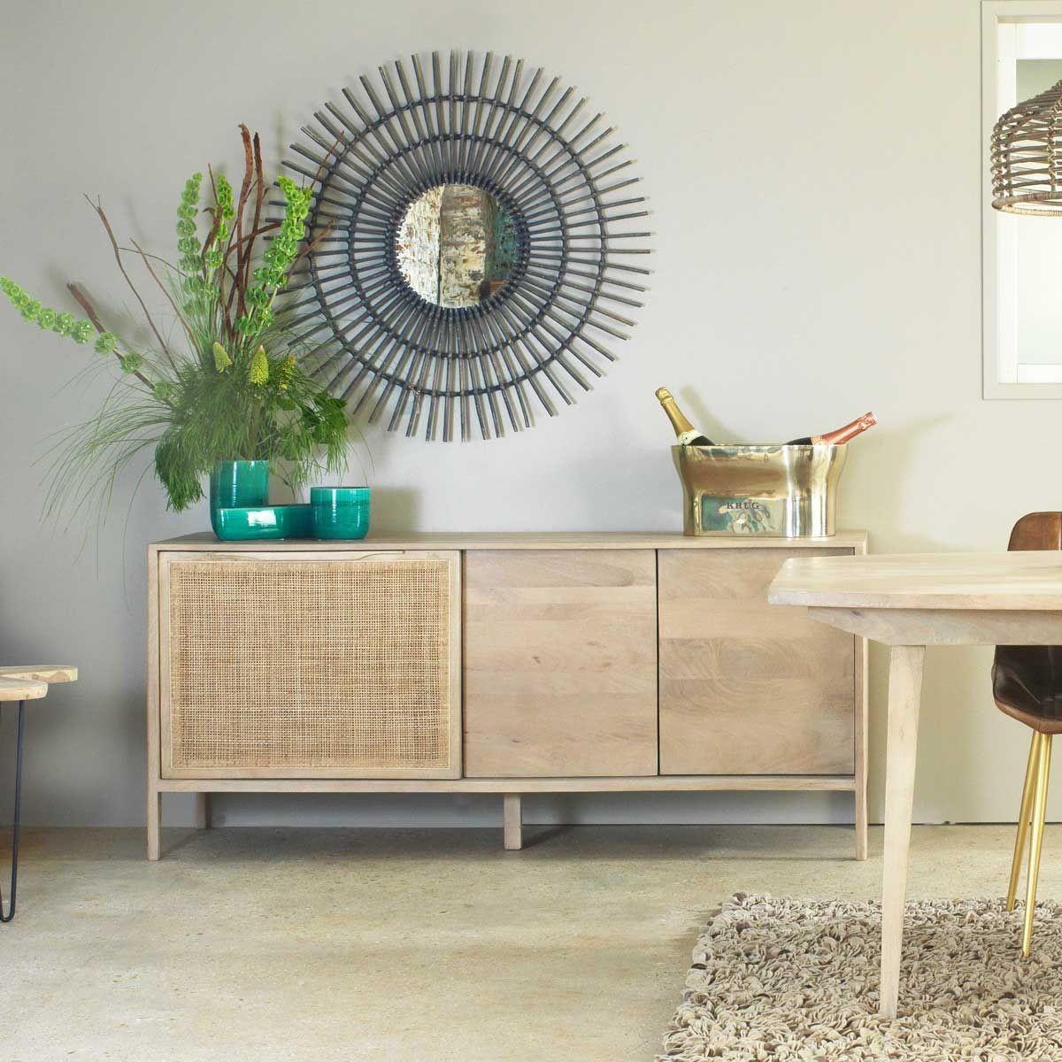 o trouver un buffet en cannage madame d core. Black Bedroom Furniture Sets. Home Design Ideas