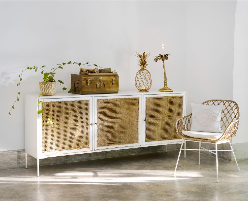 ci dessus mes deux buffets en cannage favoris celui en manguier clair sign made in meubles et le modle izmir de maisons du monde