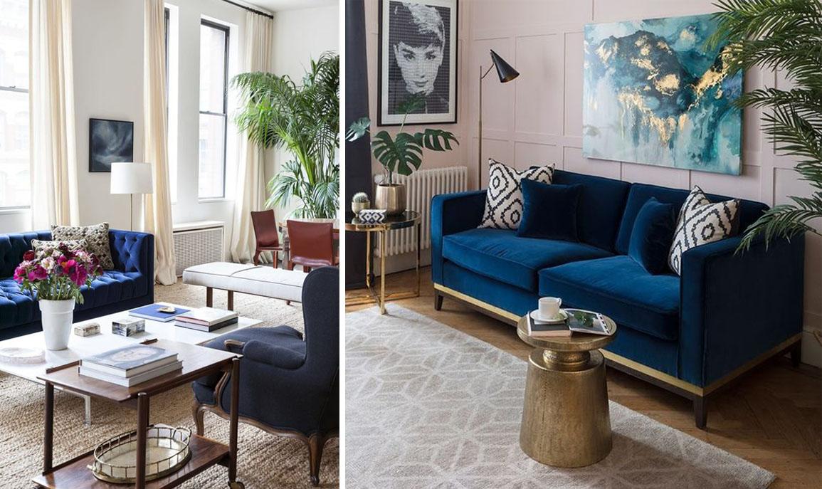 Objet du désir : je veux un canapé bleu !  Madame Décore