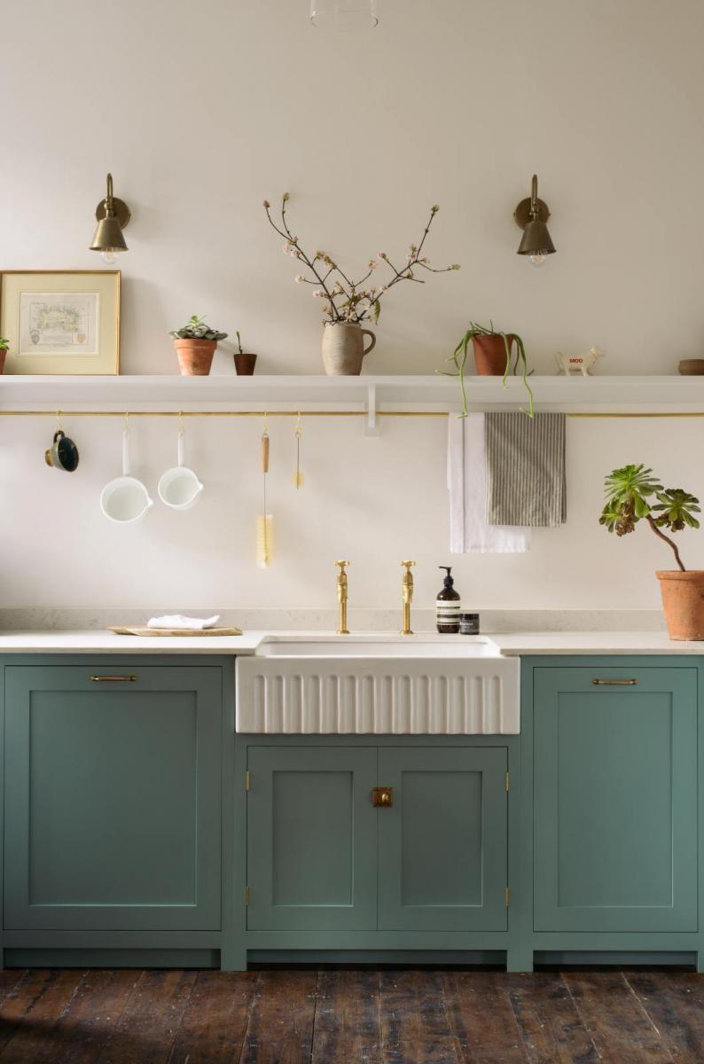 Douce ambiance dans cette cuisine de style campagne chic madame d core - Style cuisine campagne chic ...
