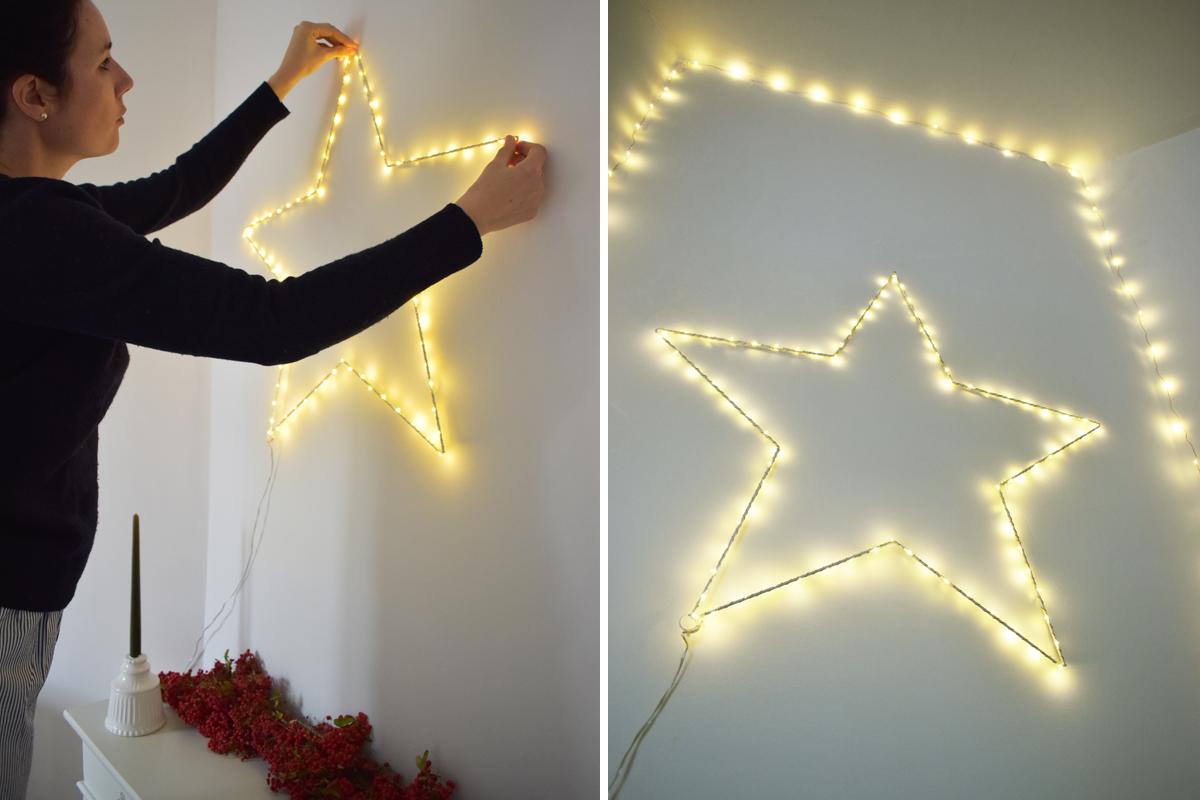 Comment Accrocher Une Guirlande Lumineuse Au Mur avant / après : décorer sa cheminée pour noël avec les
