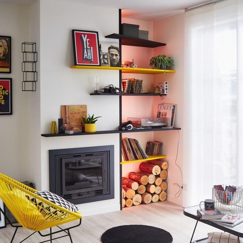 5 id es pour relooker sa chemin e madame d core. Black Bedroom Furniture Sets. Home Design Ideas