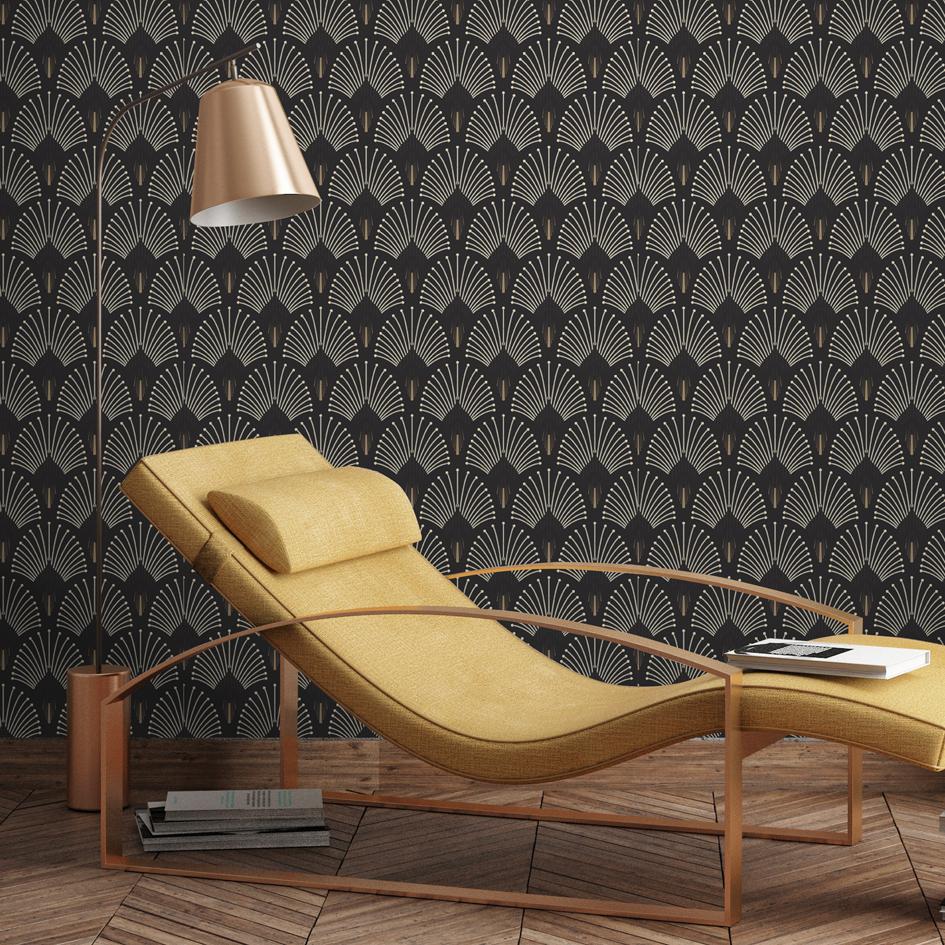 tendance papier peint quoi de neuf pour 2017 2018 madame d core. Black Bedroom Furniture Sets. Home Design Ideas
