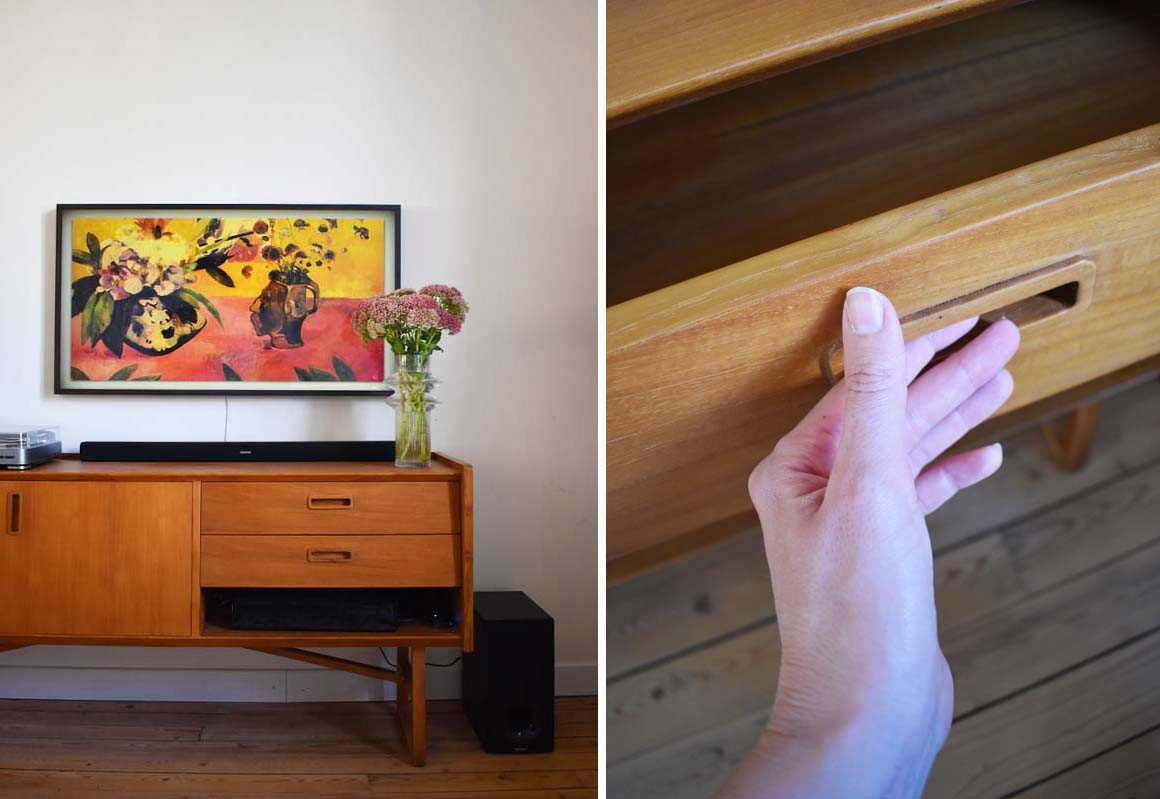 Meuble Buffet Année 50 mon nouvel espace tv vintage et cosy   madame décore