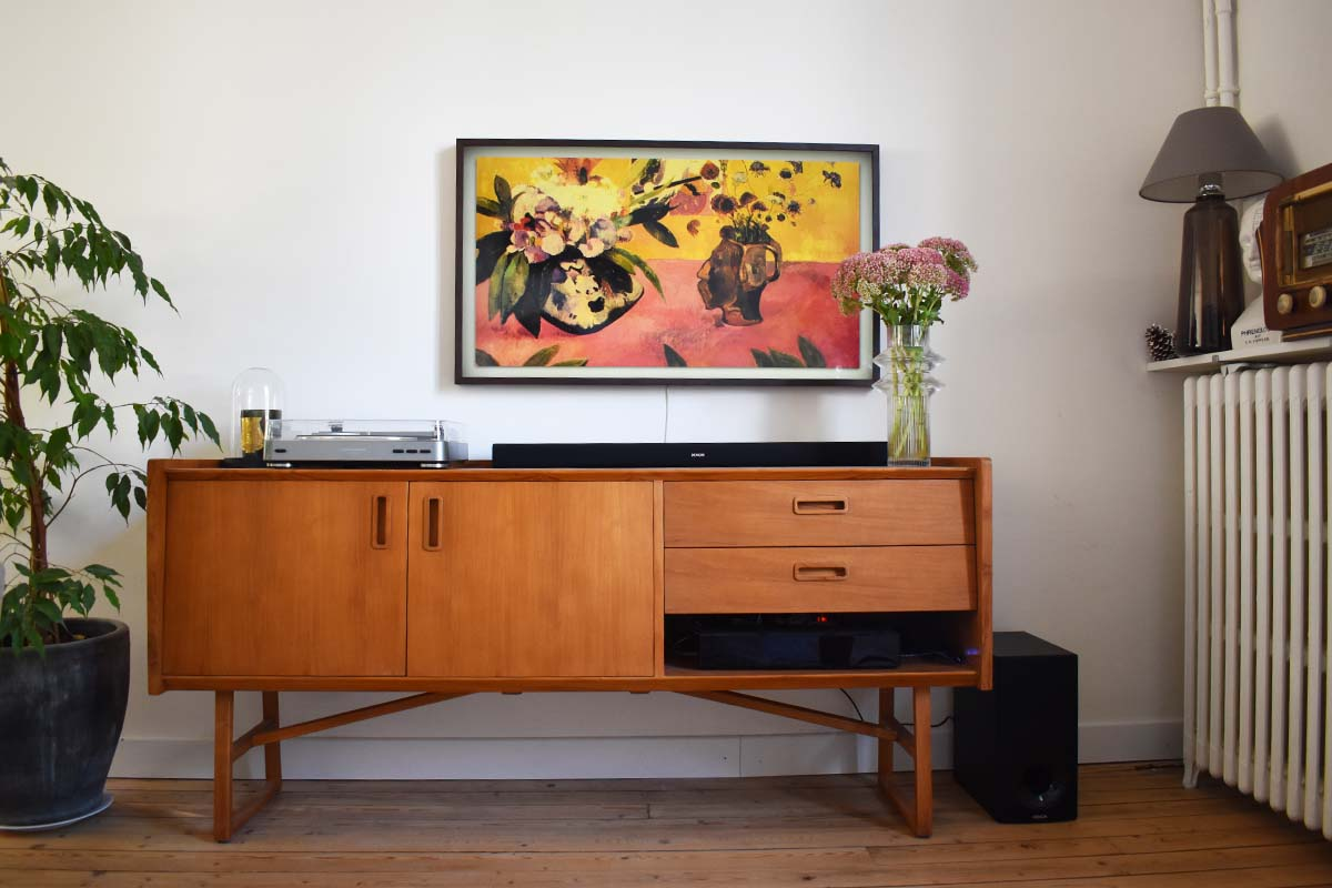 Meuble Tv Grande Taille mon nouvel espace tv vintage et cosy | madame décore