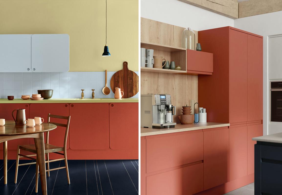 Recouvrir Porte De Cuisine tendance : je veux une cuisine couleur terracotta ! | madame