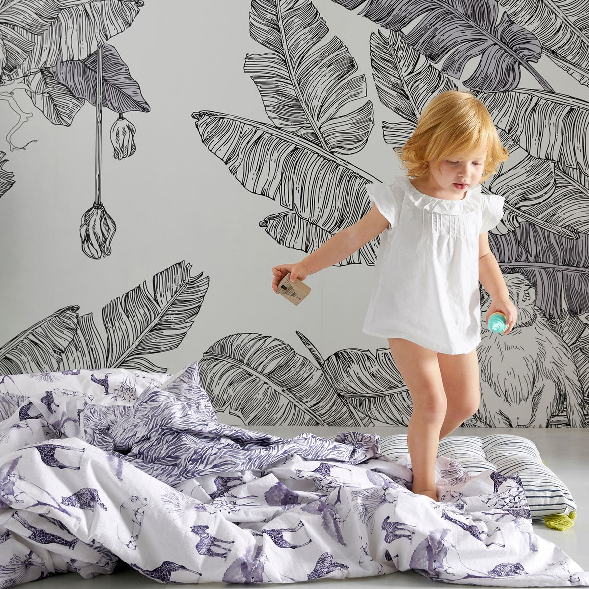Papier Peint Noir Et Blanc Graphique 10 papiers peints panoramiques pour styliser son intérieur