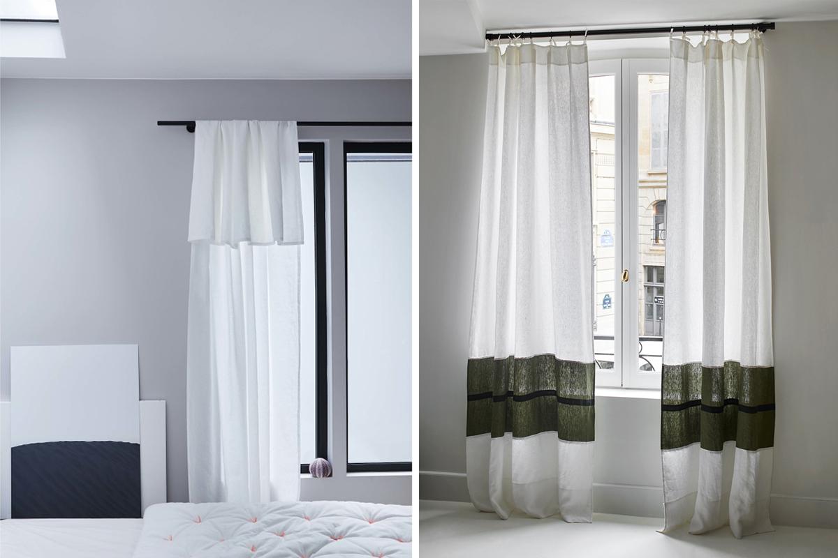 ou trouver de beaux rideaux en lin