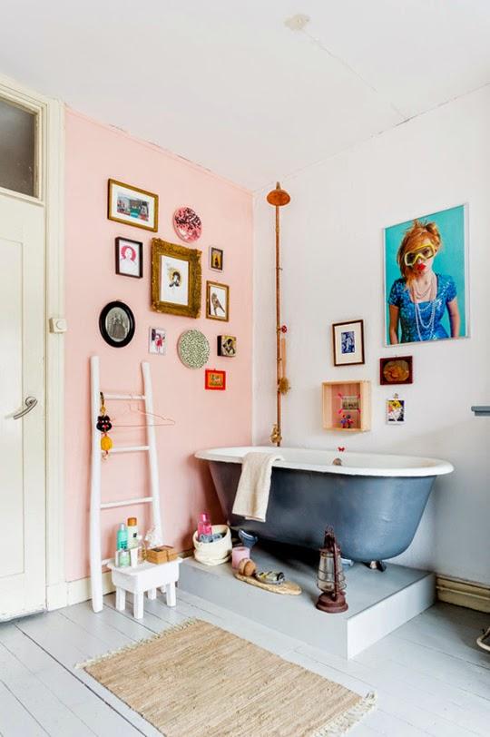inspiration je veux une salle de bain rose madame d core. Black Bedroom Furniture Sets. Home Design Ideas