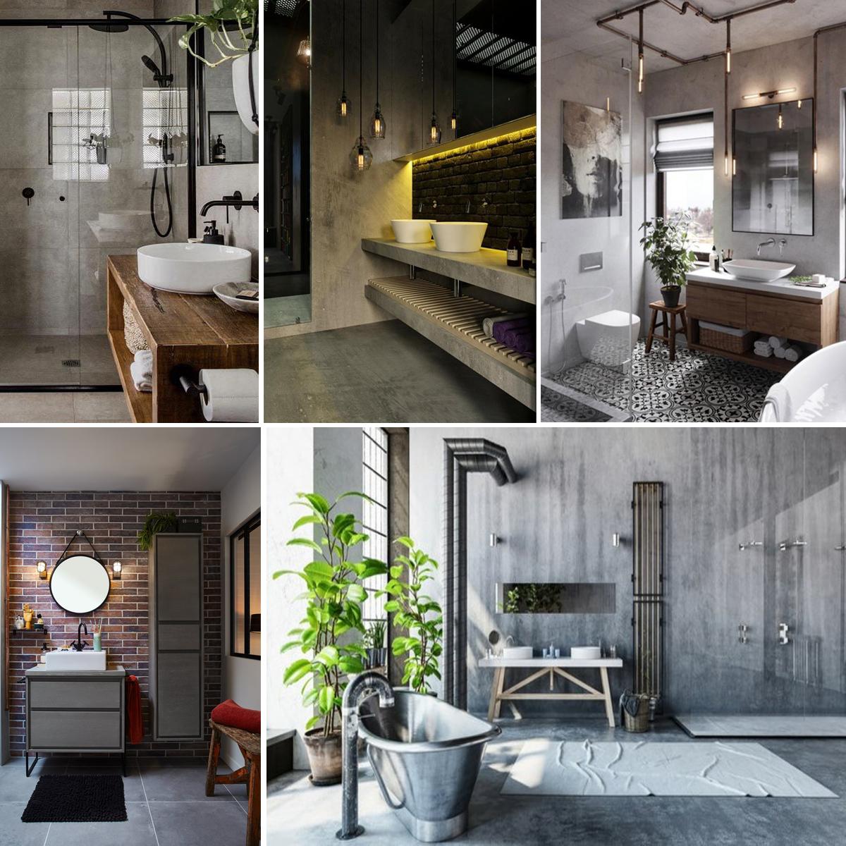 Salle De Bain Brique une ambiance industrielle dans la salle de bain | madame décore