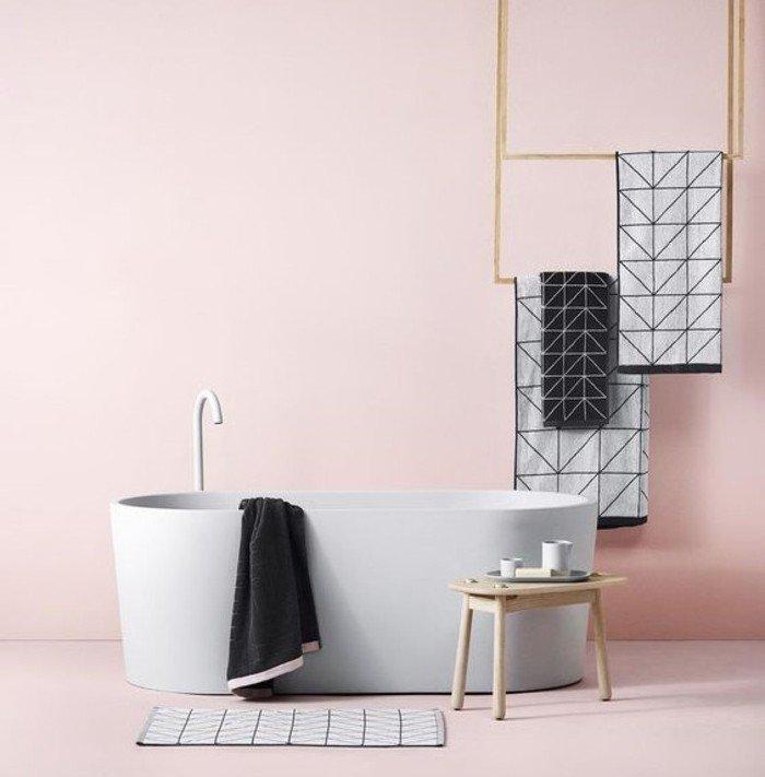 Stunning Salle De Bain Rose Poudre Ideas - Home Design Ideas ...