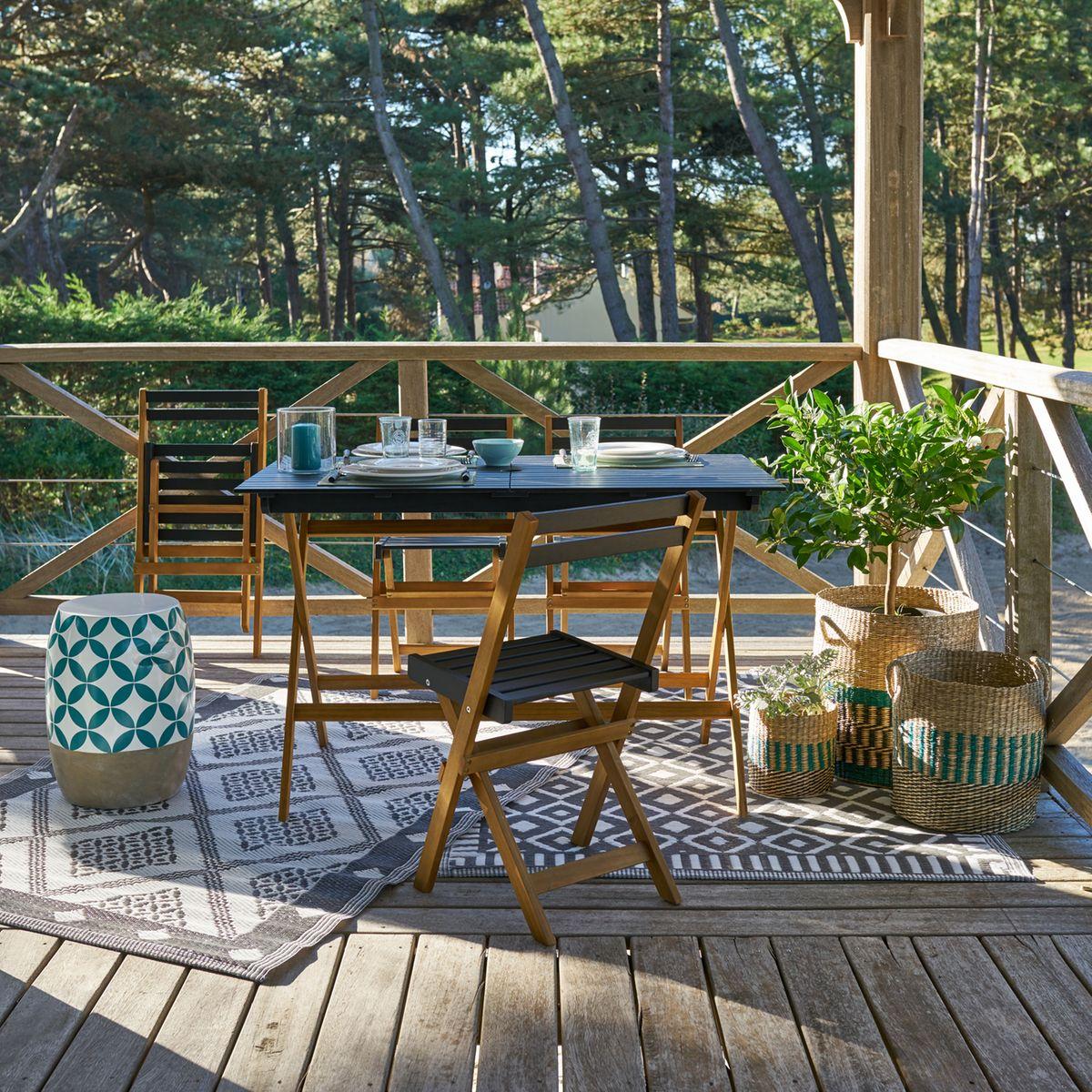 Table Pour Balcon Étroit comment aménager un petit balcon ? | madame décore