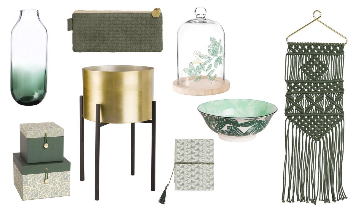 en carton feuillages vase en verre dgrad mini trousse en tissu vert cadre eucalyptus en verre et mtal dor cache pot sur pieds cloche avec