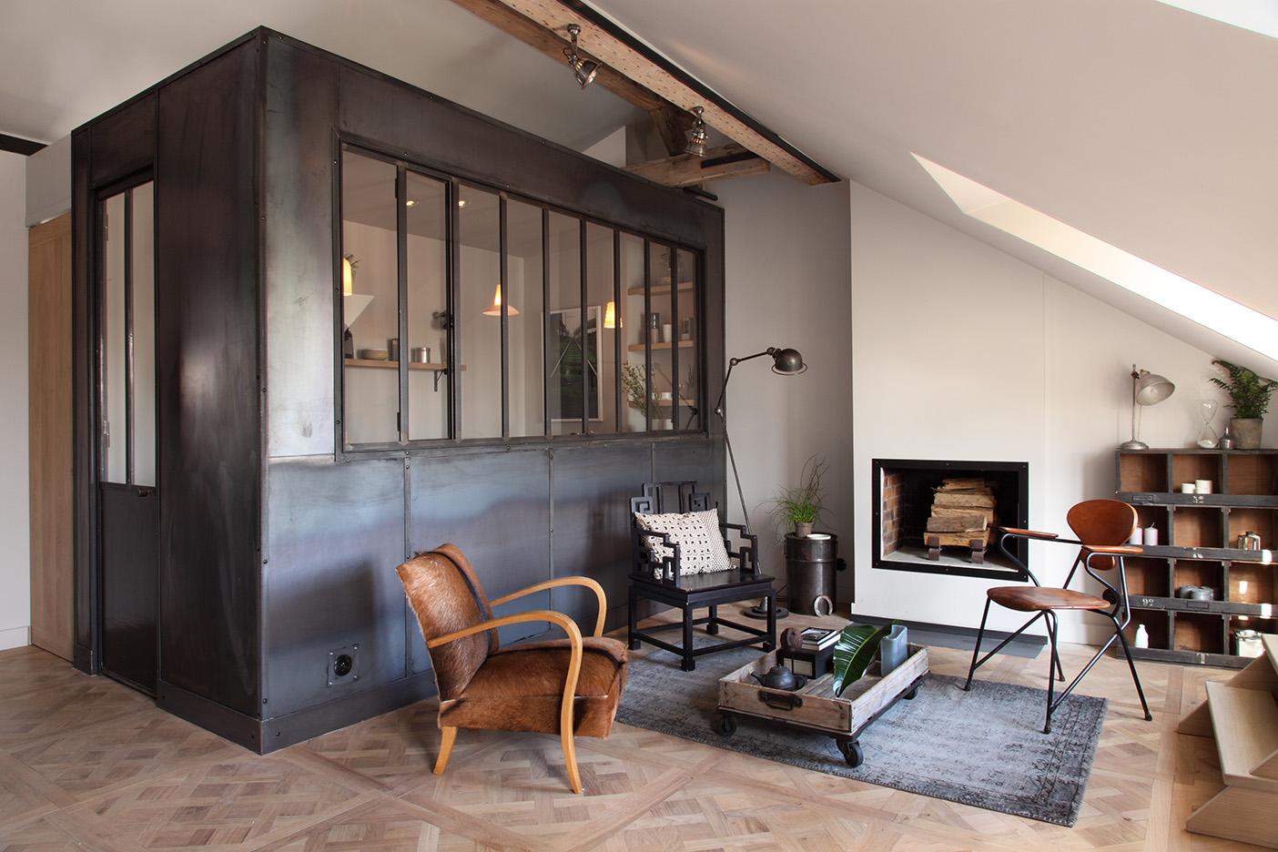 Un appartement n o industriel madame d core - Cuisine loft industriel ...