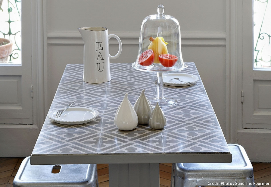 ma table fa on carreaux de ciment madame d core. Black Bedroom Furniture Sets. Home Design Ideas