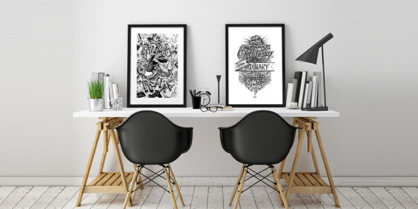 je veux une affiche graphique madame d core. Black Bedroom Furniture Sets. Home Design Ideas