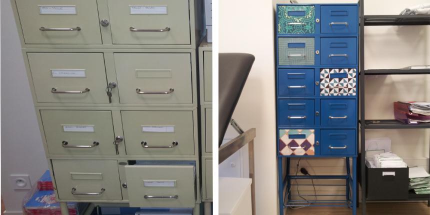 Diy customiser un meuble de bureau madame d core for Customiser des meubles