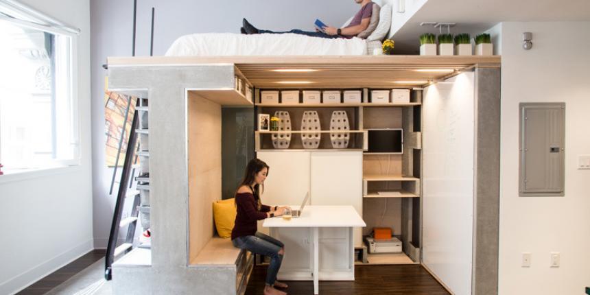 Un loft minuscule san francisco madame d core for Mini case interni