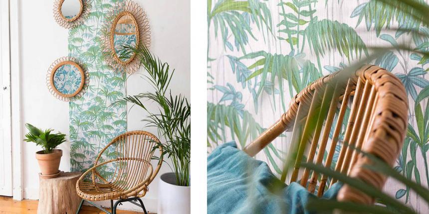 Tropical mood avec les papiers peints Chantemur | Madame Décore