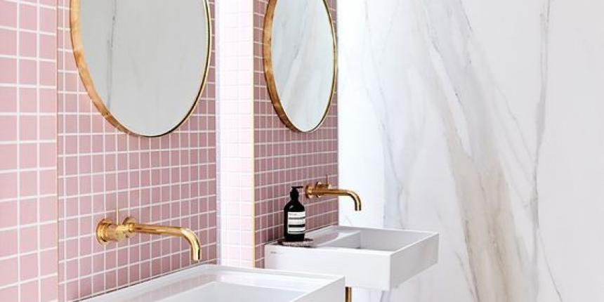 Inspiration je veux une salle de bain rose madame d core for Articles salle de bain design