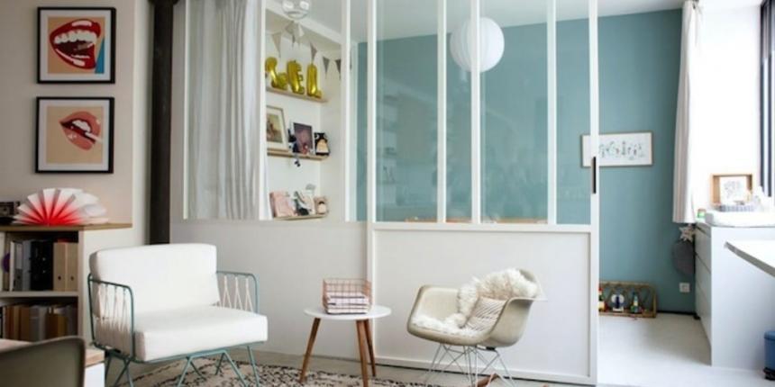 sparer une pice sans percer cloisons amovibles pour sparer ses pices avec style with sparer une. Black Bedroom Furniture Sets. Home Design Ideas